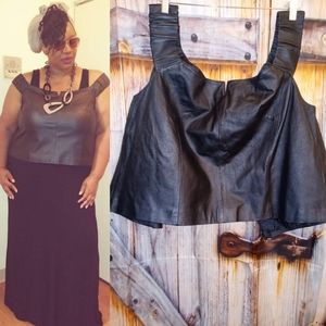 Newport News leather top